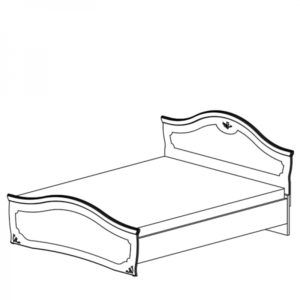 Кровать Белый полуглянец