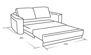Трехместный диван с выкатным спальным местом