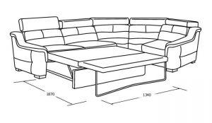 Угловой диван со спальны местом