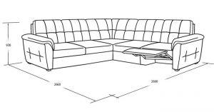 Угловой диван со спальны местом и реклайнером