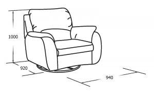 Кресло качающееся и вращающееся с реклайнером