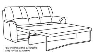 Трехместный диван со спальным местом