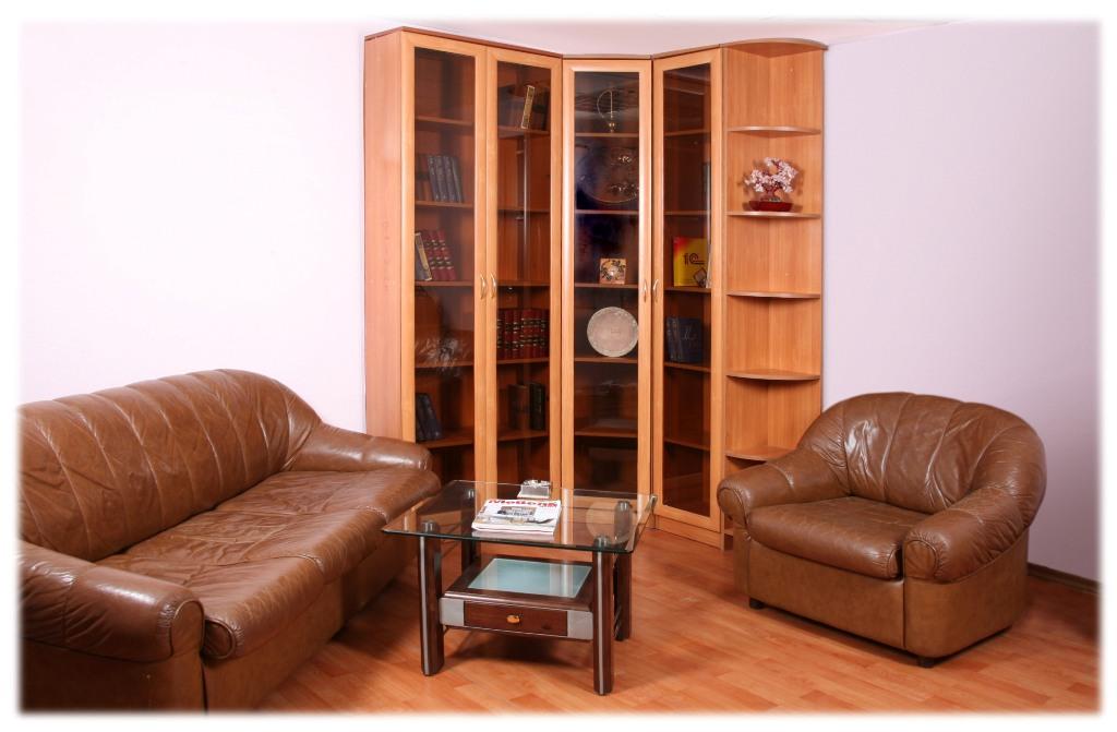 Угловой книжный шкаф верона 1 - город мебели.