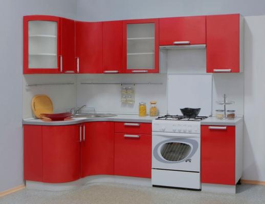 Кухня Трапеза Классика 1230х1785 с гнутыми фасадами