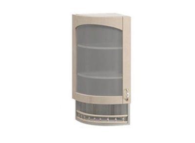 Торцевой шкаф со стеклом МВ-30В Массив Люкс