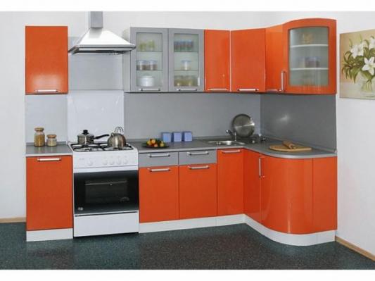 Кухня Трапеза Классика 1230x2100 с гнутыми фасадами Модерн