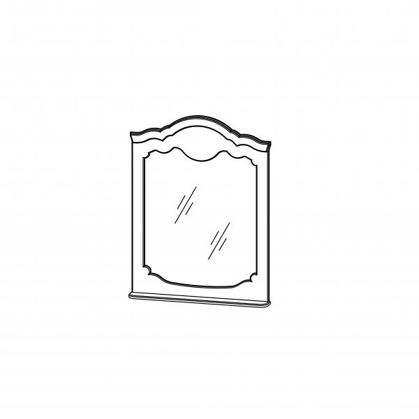 Зеркало навесное Белый полуглянец
