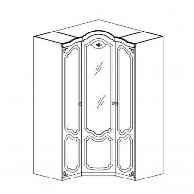 Шкаф для одежды Белый полуглянец