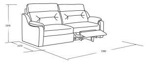 Двухместный диван с реклайнерами