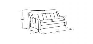Трёхместный диван