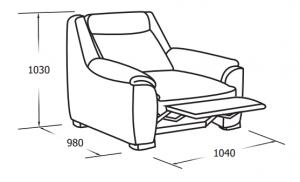 Кресло с механическим реклайнером