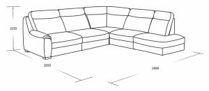 Угловой диван с ящиком для белья