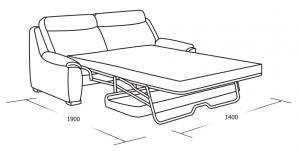 3-местный раскладной диван