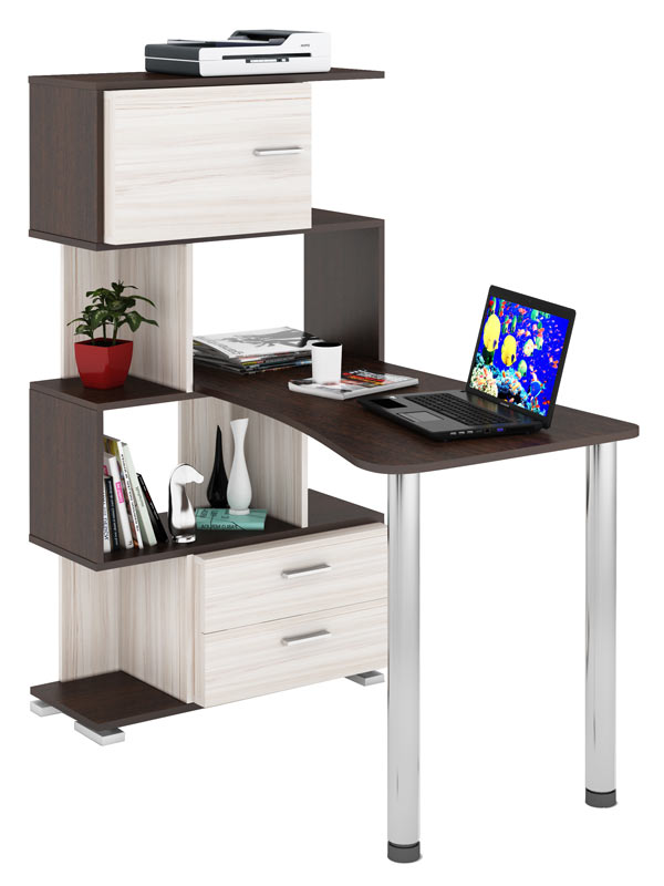 Компьютерный стол СЛ-5-4СТ-2+БД+БЯ