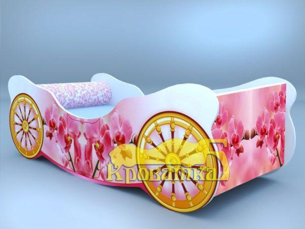 Кроватка карета орхидея
