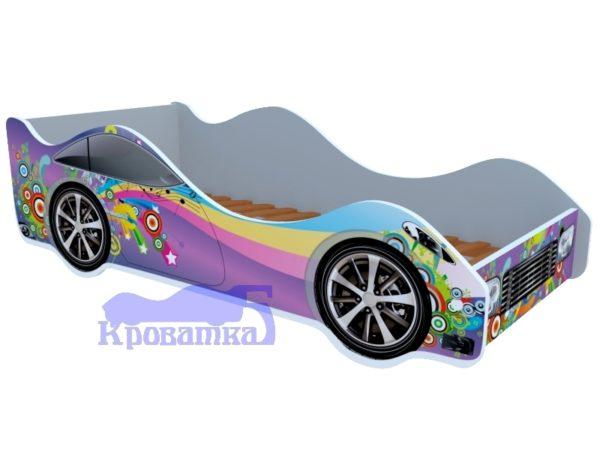 Кроватка фиолетовая радуга