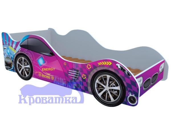 Кроватка форсаж фиолетовый