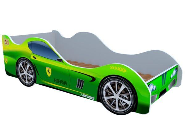 Кроватка феррари зеленая