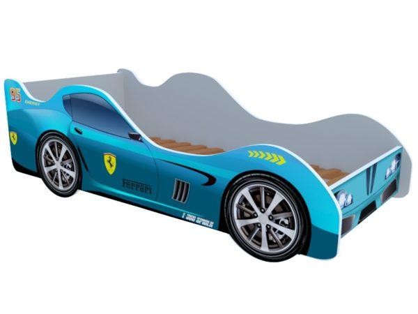Кроватка феррари голубая