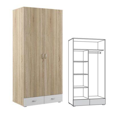 Шкаф 2-дверный Линда 305