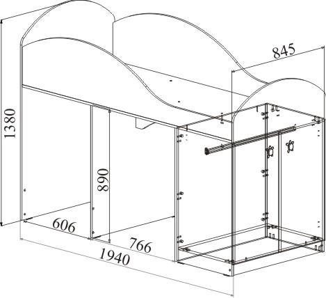 МДМ-2 Кровать-чердак