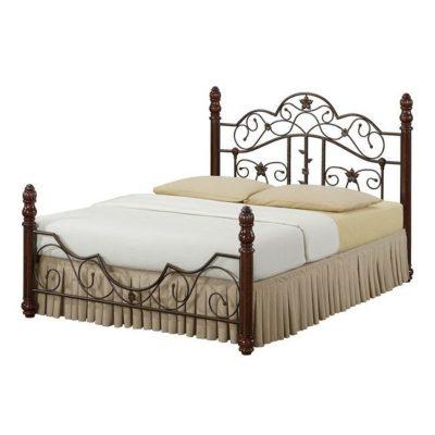 Кровать PS 8837 WALNUT/ ANTIQUE BRASS