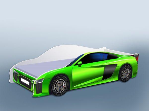Кроватка Ауди зеленая