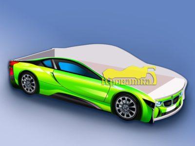 Кроватка БМВ зеленая