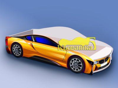 Кроватка БМВ желтая