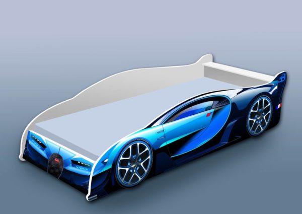 Кроватка Бугатти синяя