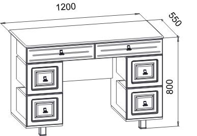 ЭМ-13 Туалетный столик