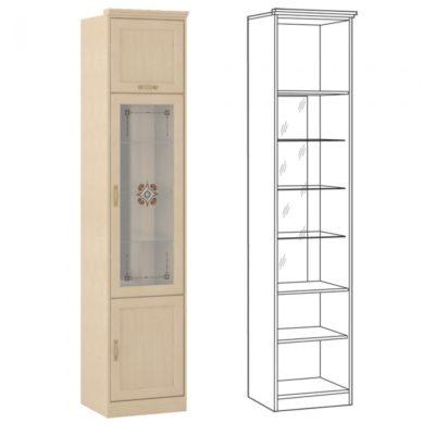 Флорида 1 502 шкаф-витрина