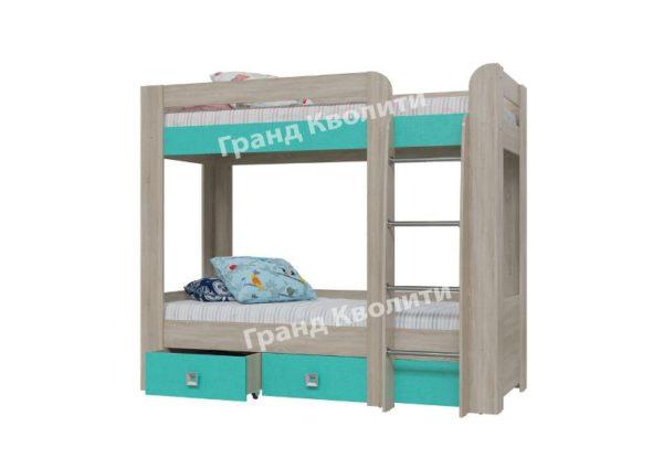 Кровать 2-х ярусная с двумя ящиками Сити 4-2002