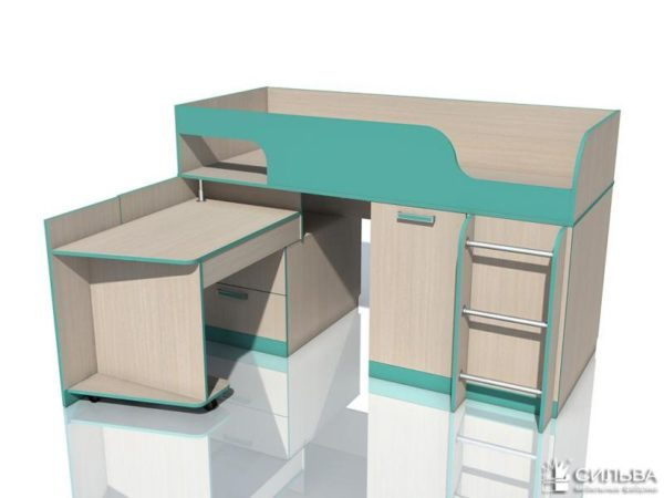 """Кровать с поворотным столом НМ 011.55 """"Рико"""""""