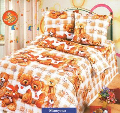 Комплект постельного белья Детское Мишутки