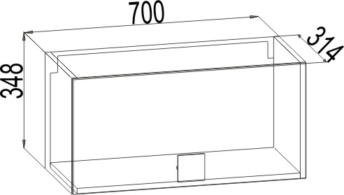 АМ-03 Шкаф навесной Александрия