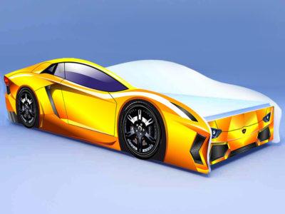 Кроватка Ламбо жёлтая