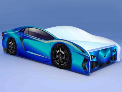 Кроватка Ламбо голубая