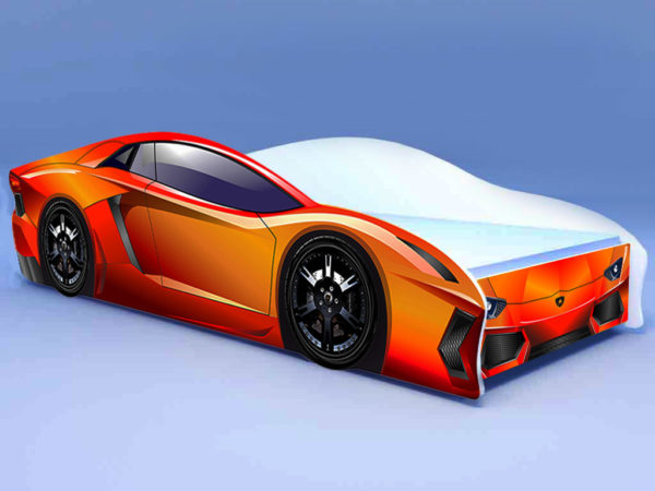 Кроватка Ламбо оранжевая