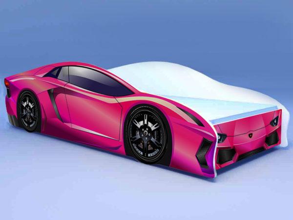 Кроватка Ламбо розовая