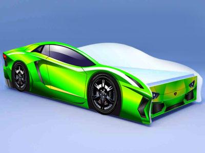 Кроватка Ламбо зелёная