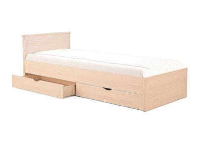 Кровать Мелисса 800 с двумя спинками и двумя ящиками
