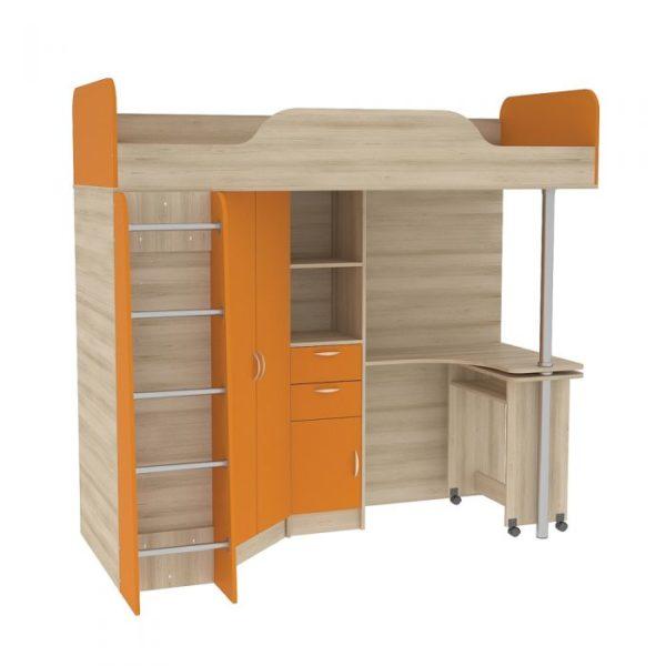 НИКА 427 Кровать- чердак со столом