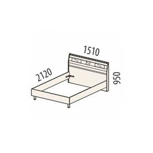 Кровать Розали 96.02