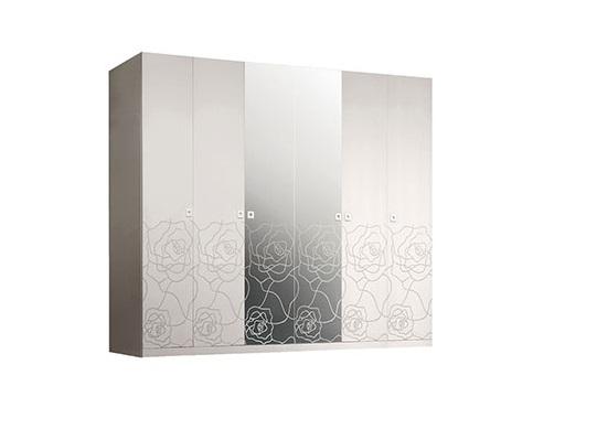 Шкаф 6-дв. Роза Р1Ш1/6 с зеркалами