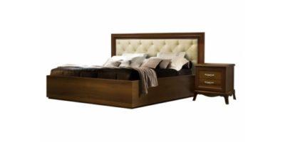 Кровать 2-х спальная Амели с мягким изголовьем и подъёмным механизмом