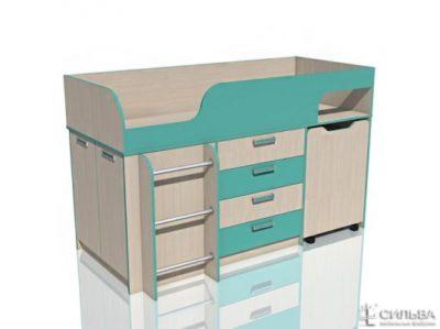 """Кровать с выкатным столом НМ 011.56 """"Рико"""""""