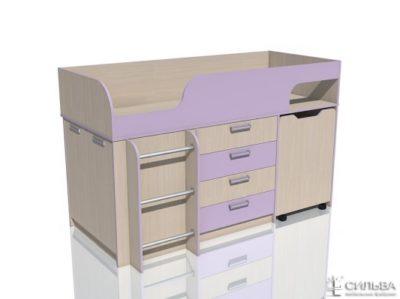 """Кровать с выкатным столом НМ 011.56 """"Рико"""" Модерн"""