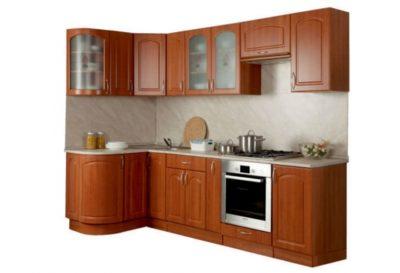 Кухня Трапеза Классика 1230x2100 с гнутыми фасадами Арка