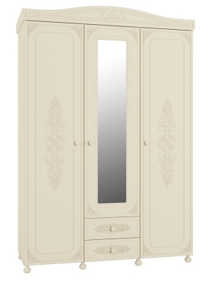 Шкаф 3-х створчатый с зеркалом Ассоль Плюс АС-27